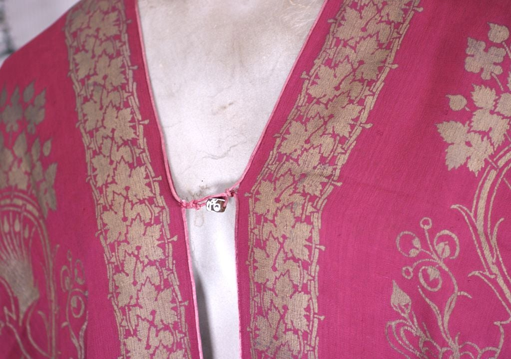 Rare Mariano Fortuny Berry Silk Crepe Coat 5