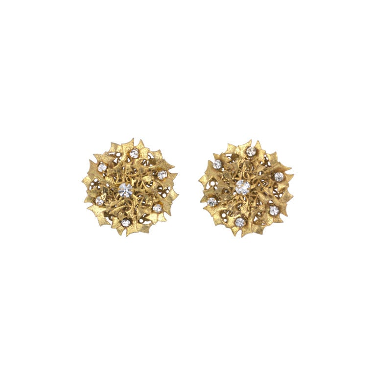 Miriam Haskell gilt Thistle Earrings