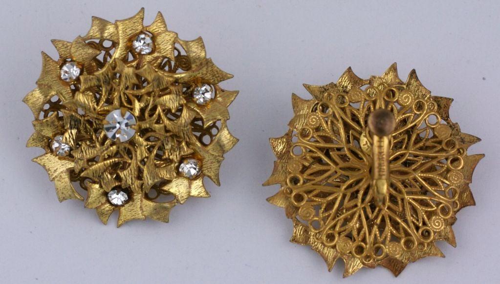 Miriam Haskell gilt Thistle Earrings image 2