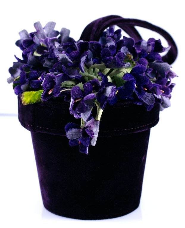 Lulu Guiness Violet Pot Bag At 1stdibs