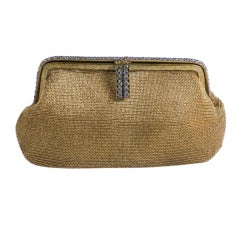 Golden Mesh Deco Clutch with Paste set Frame