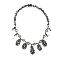 Edwardian Paste 18th Style Pendant Necklace