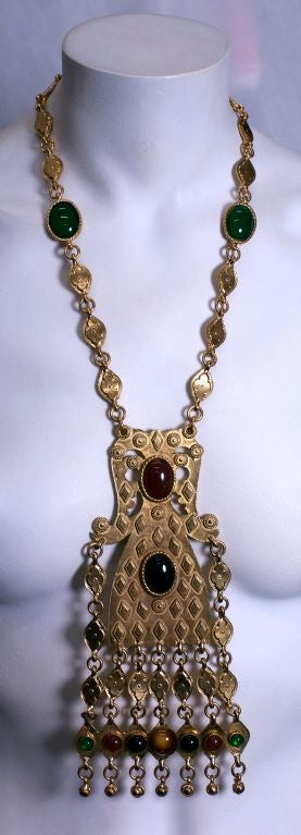 Huge Accessocraft Ethnic Inspired Pendant In Excellent Condition For Sale In Riverdale, NY