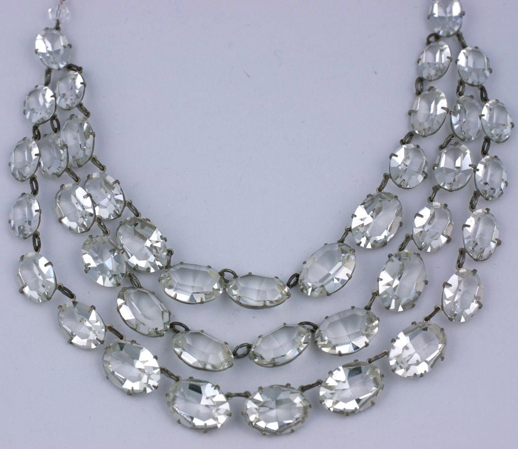 Dramatic Art Deco Crystal Bib Necklace 3