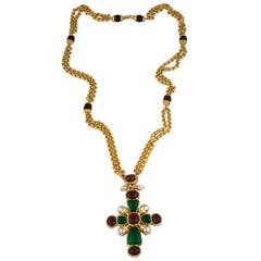 Chanel Byzantine Cross Necklace