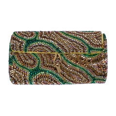 Unusual Pave Swirl Clutch