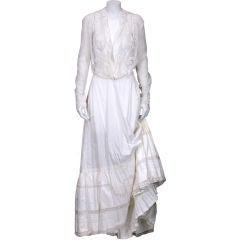 Edwardian Lace inserted Petticoat