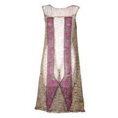 Art  Deco Gold Lace and Beaded Flapper Dress