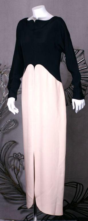 Geoffrey Beene Crepe Gown 3