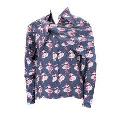 Valentino Silk Crepe Print Blouse andScarf