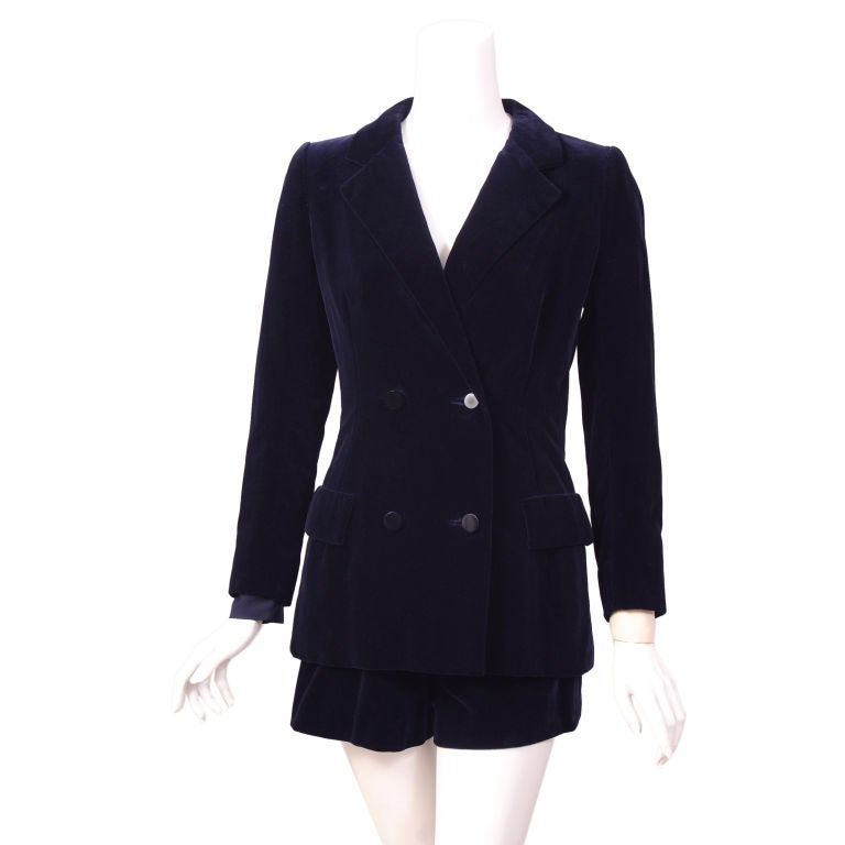 Rare givenchy haute couture hot pants suit at 1stdibs for Haute couture suits