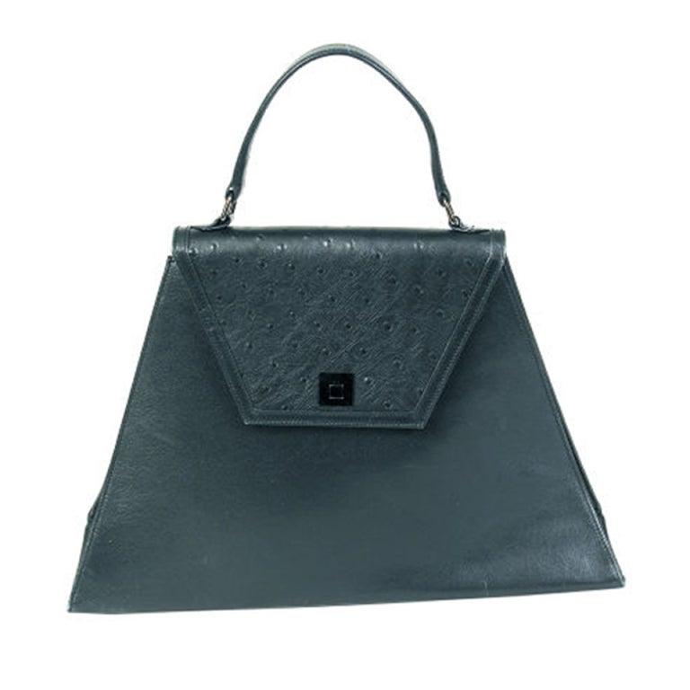 Tiffany And Co Ostrich Handbag At 1stdibs