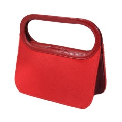 Renaud Pellegrino Patent & Fur Bag