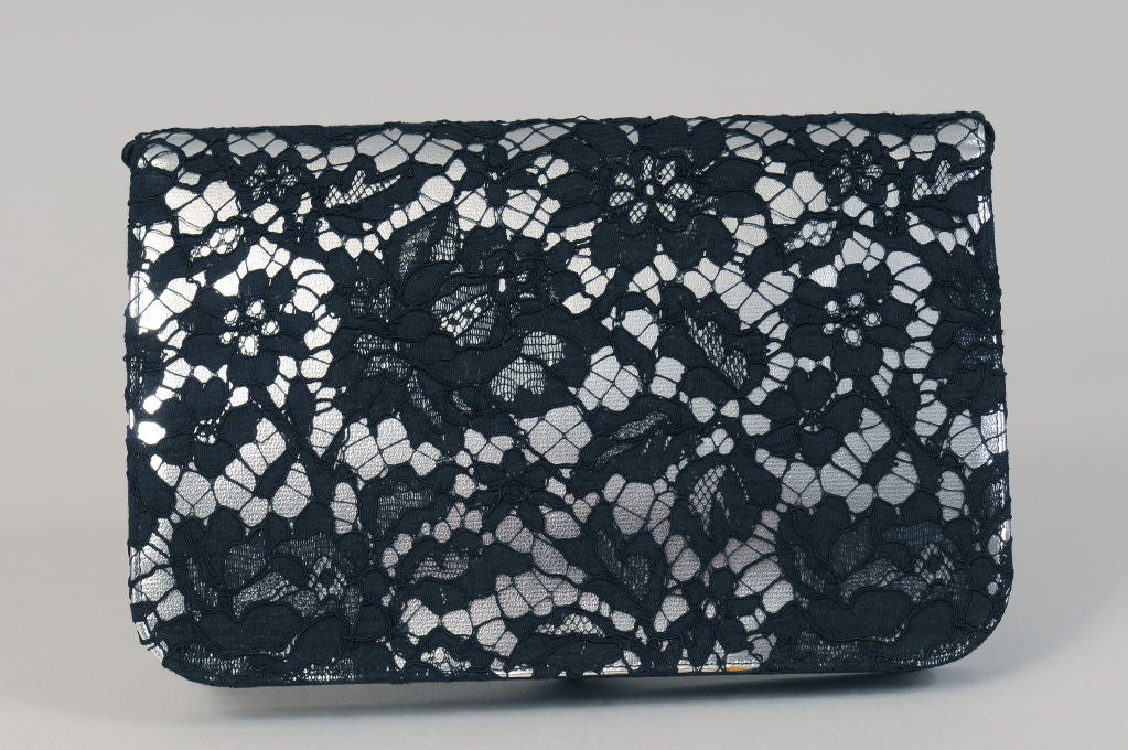 French Lace over Leather Clutch, Cerny Paris 2