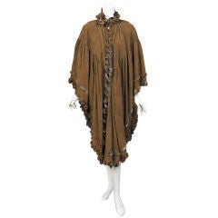 Lagerfeld for Chloe Suede Poncho