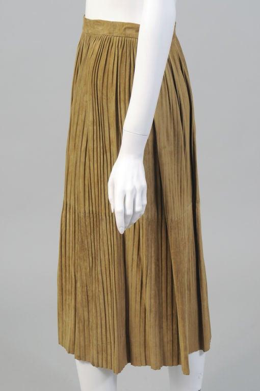 Mario Valentino Pleated Suede Skirt 2