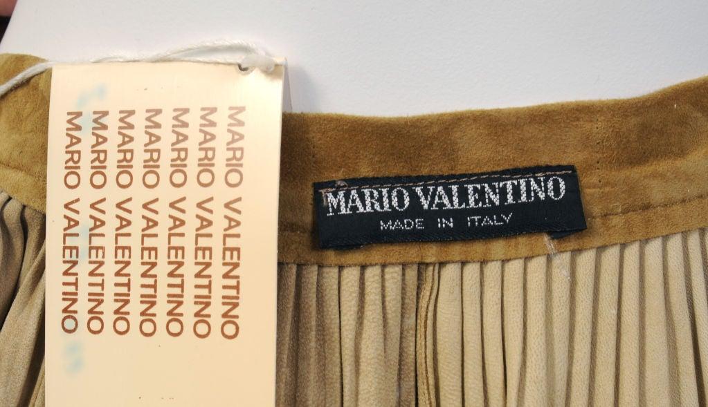 Mario Valentino Pleated Suede Skirt 3