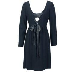 Oscar de la Renta Lace Up Corset Dress