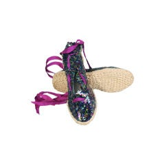 Sequin Covered Espadrilles