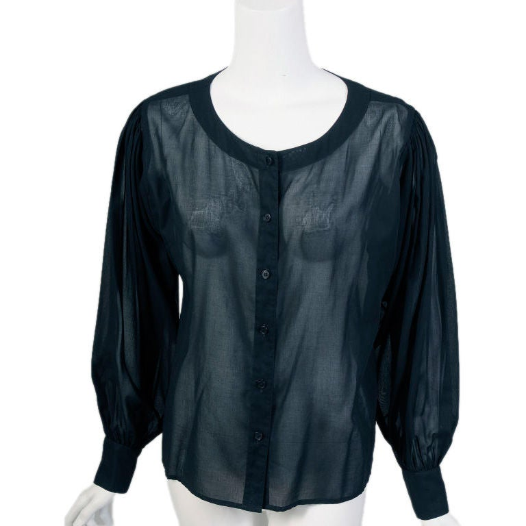 Ysl Sheer Blouse 38