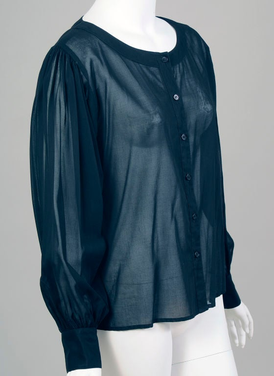 Ysl Sheer Blouse 40