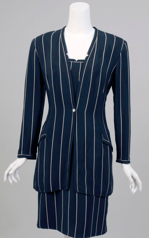 Women's Geoffrey Beene Silk Dress and Jacket For Sale