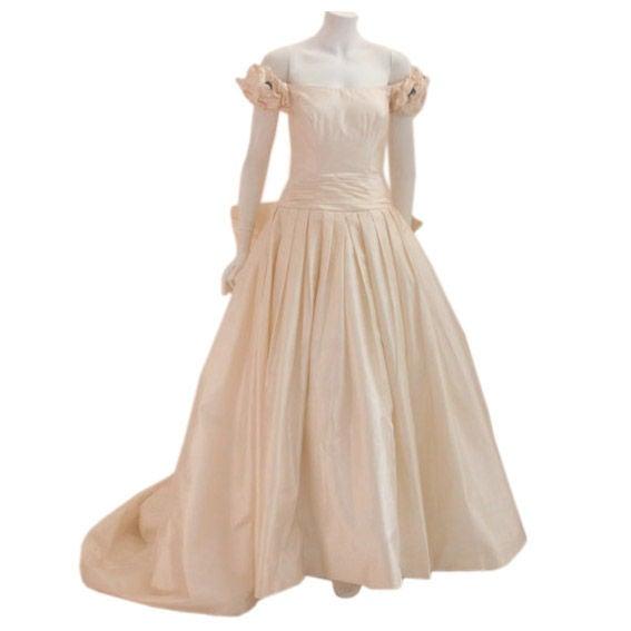 Christian Dior Champagne Silk Wedding Gown, Circa 2000 at 1stdibs