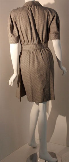 c6cf95b75d80 Fendi 365 Black and White Checked Day Dress with hidden skirt