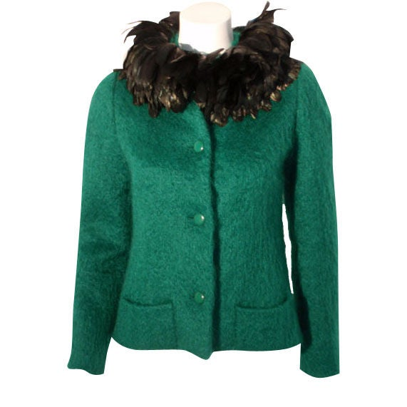 Christian dior haute couture green wool jacket circa 1973 for Haute couture jacket