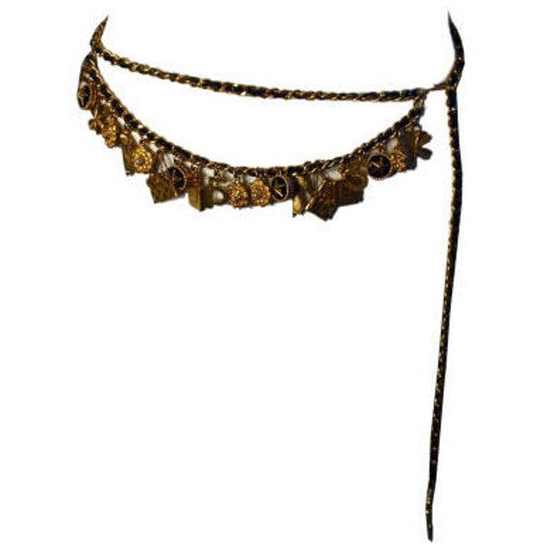 Chanel Gold Charm Belt, Circa 1990 1