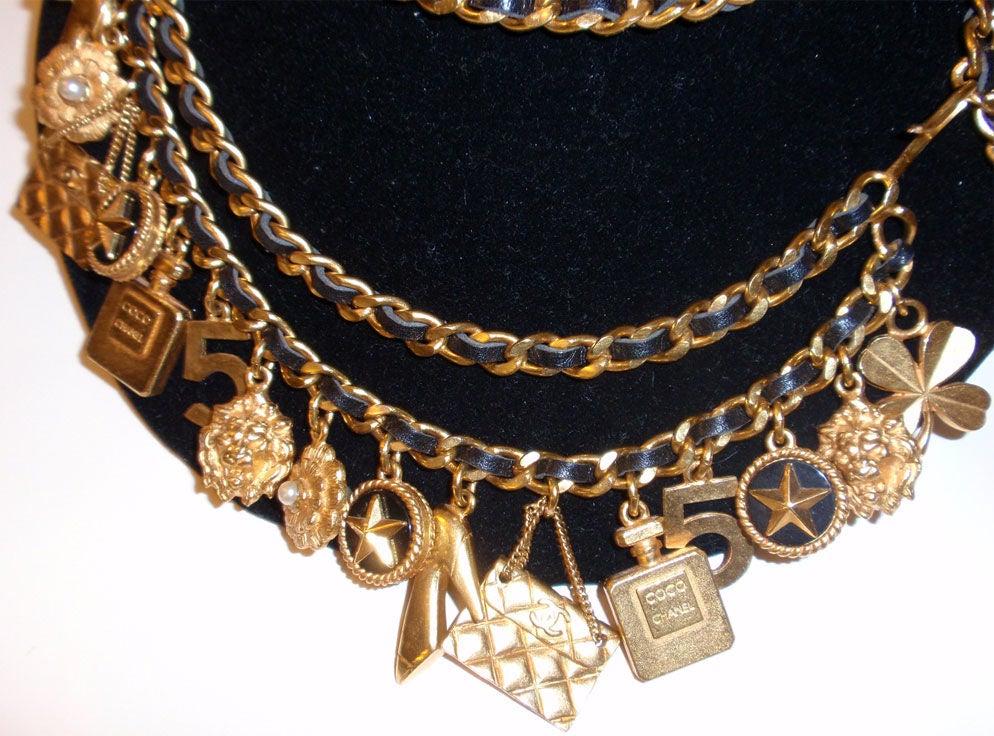 Chanel Gold Charm Belt, Circa 1990 5