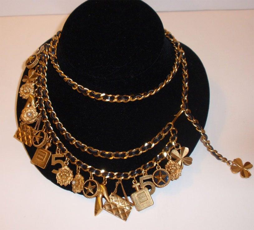 Chanel Gold Charm Belt, Circa 1990 6