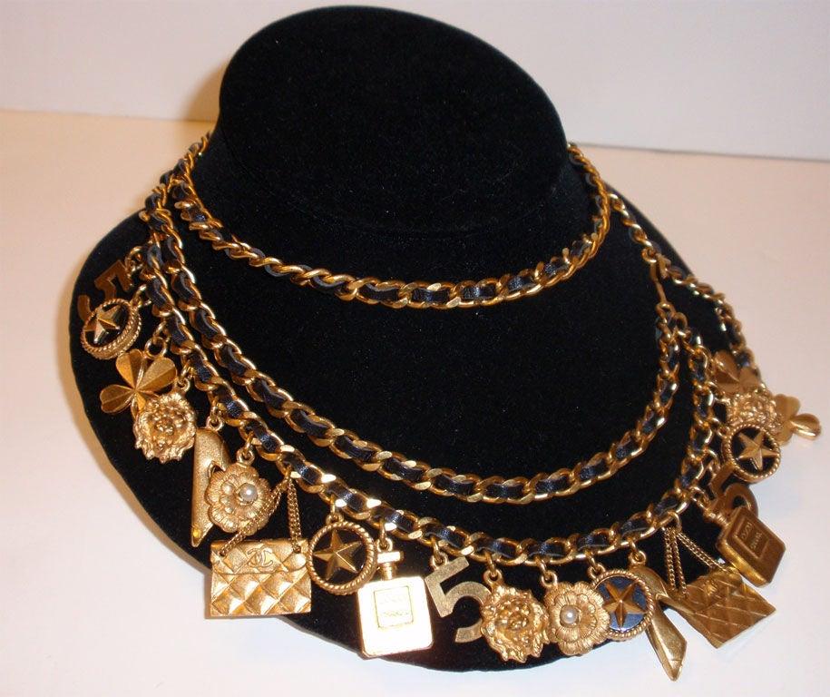 Chanel Gold Charm Belt, Circa 1990 7