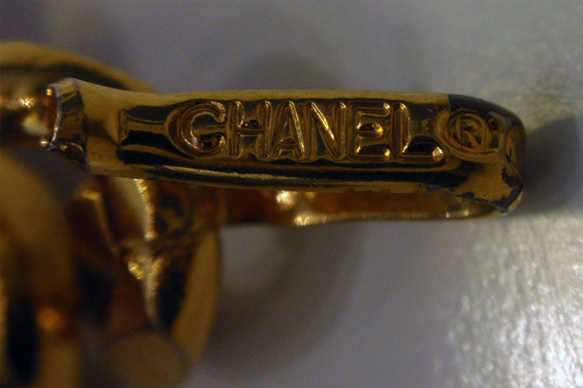 "Chanel Black Leather Woven into Gold Chain ""Coin"" Belt , Circa 1990's 8"