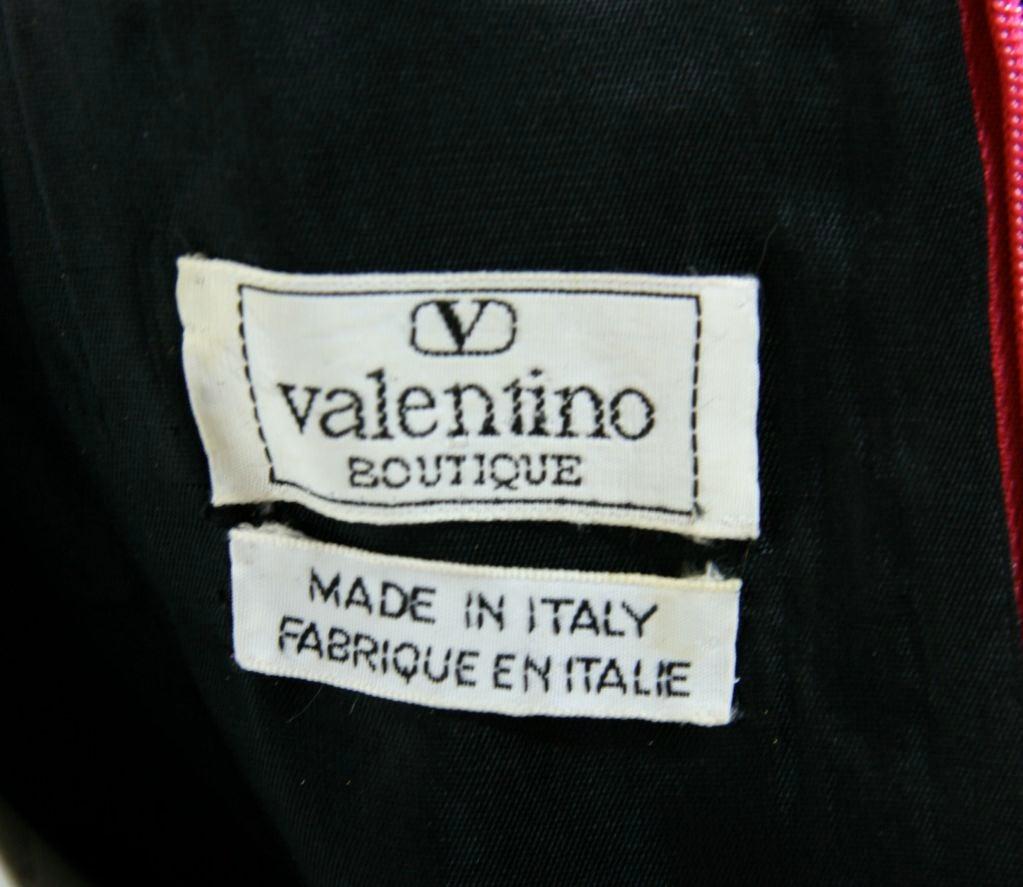 Valentino Fushia Silk Strapless Gown 10