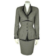 Mugler Houndstooth Skirt Suit