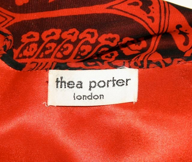 Thea Porter Red & Black Skirt Ensemble image 7