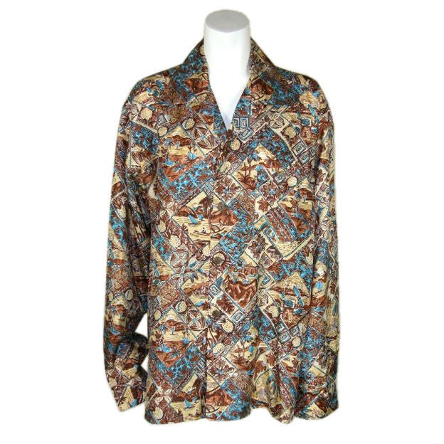 hawaiian men 39 s silk shirt for sale at 1stdibs