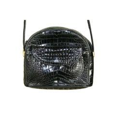 Chloe Black Baby Crocodile Skin Handbag