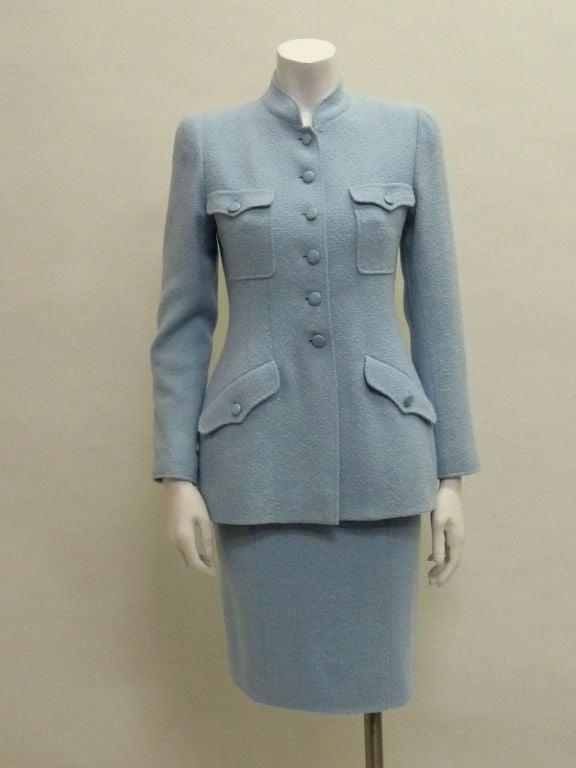 chanel light blue skirt suit at 1stdibs