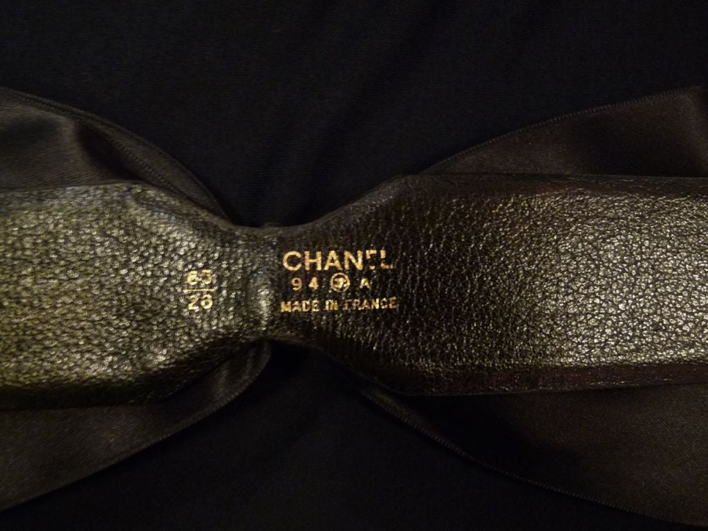 Chanel Bow Belt with Gold Buckle. 4
