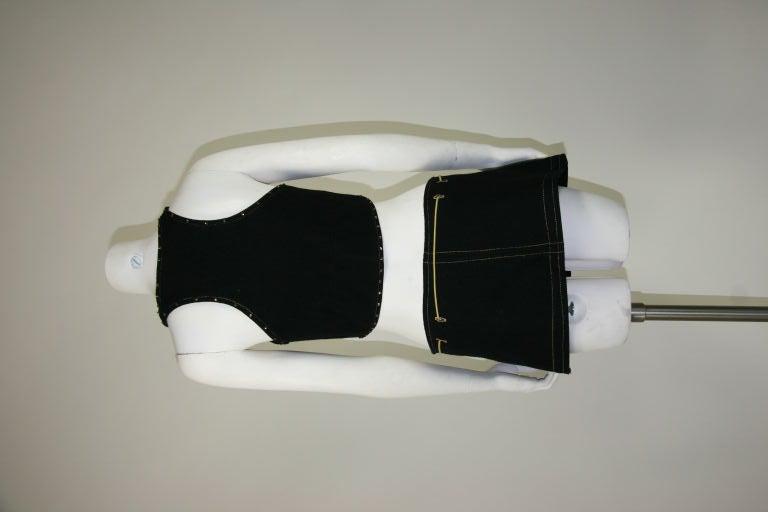 Paraphernalia 1960s Black Vest & Mini Skirt Ensemble 6