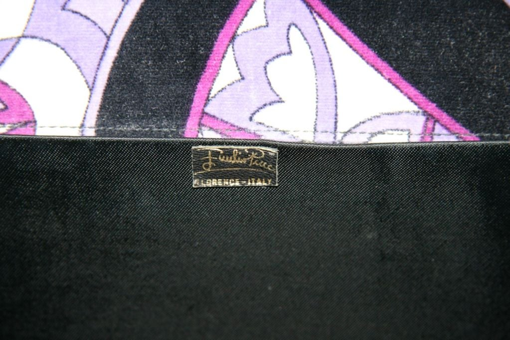 Pucci Velveteen Purple and Black Clutch 4