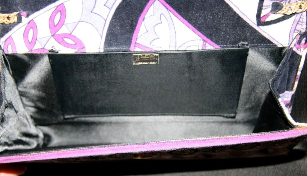 Pucci Velveteen Purple and Black Clutch 5