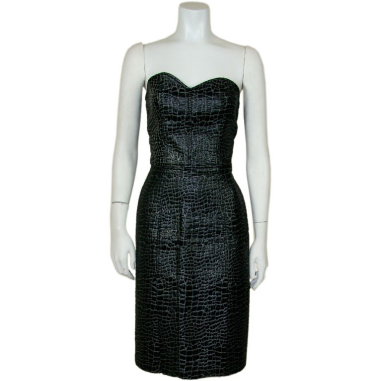 Patrick Kelly 1980s Embossed Cotton Croc Dress 1