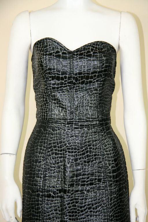 Patrick Kelly 1980s Embossed Cotton Croc Dress 3