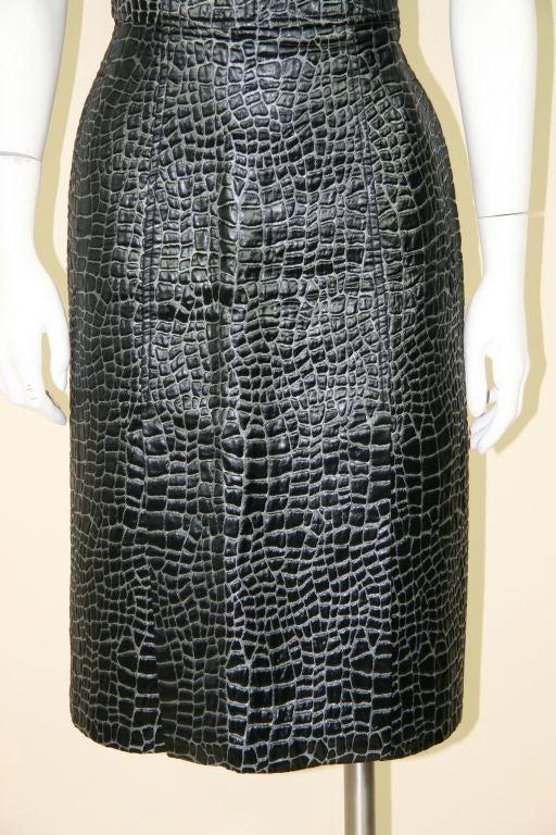 Patrick Kelly 1980s Embossed Cotton Croc Dress 4