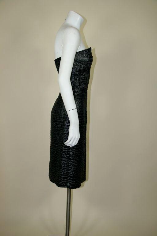Patrick Kelly 1980s Embossed Cotton Croc Dress 5