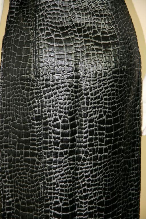 Patrick Kelly 1980s Embossed Cotton Croc Dress 6