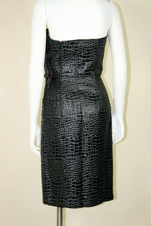 Patrick Kelly 1980s Embossed Cotton Croc Dress 7
